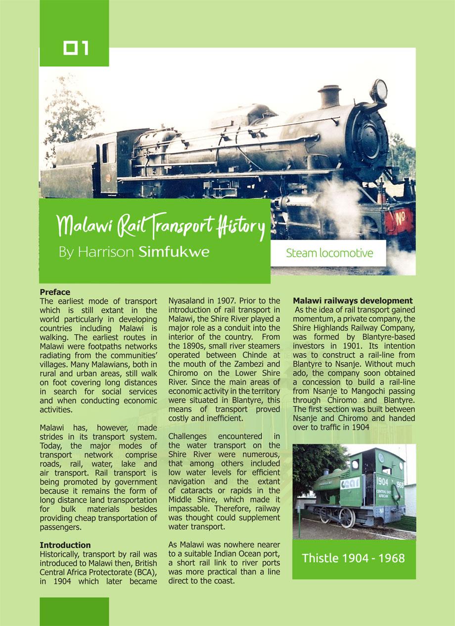 Malawi Rail Transport History - Inside Guide to Malawi