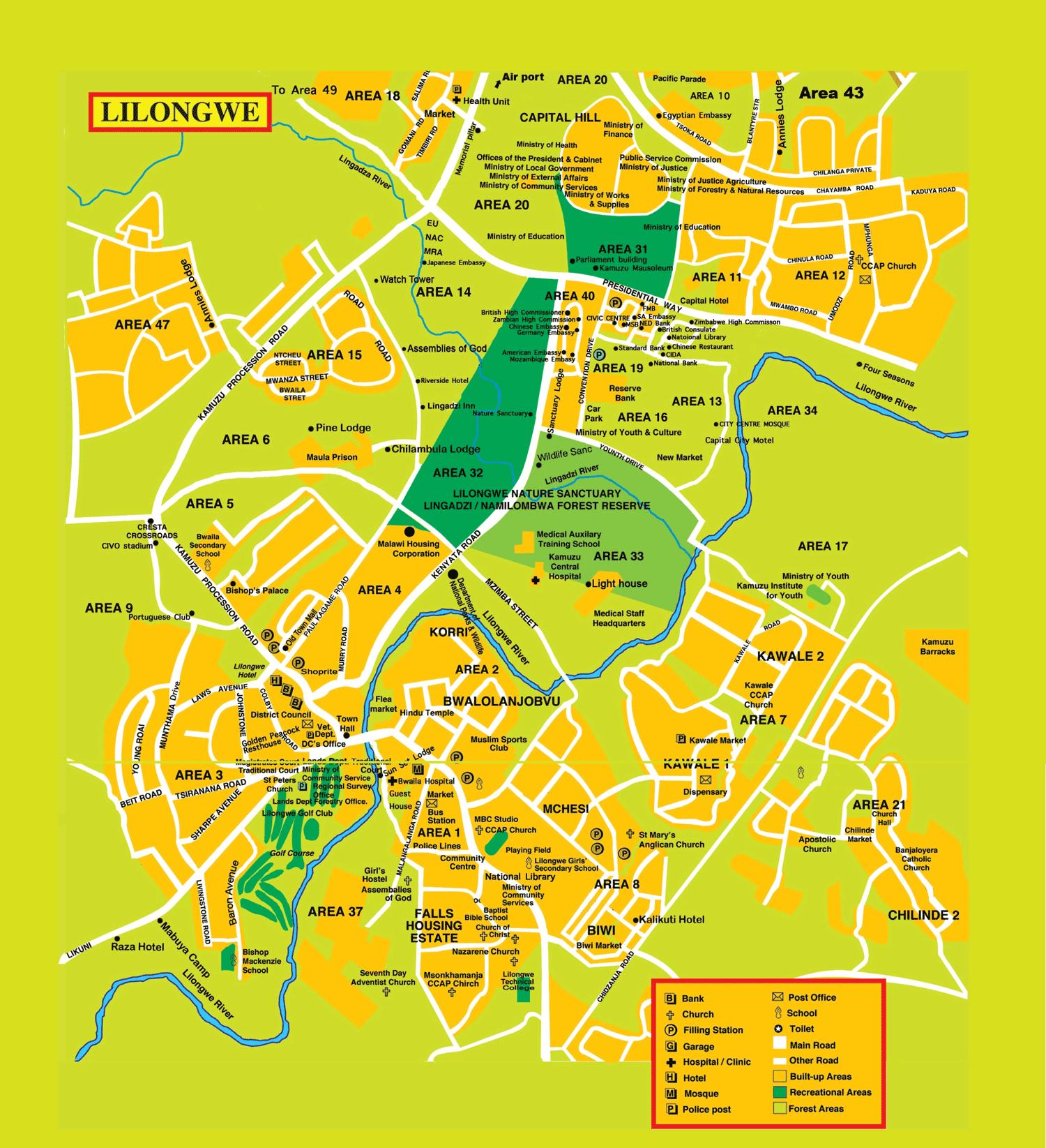 Lilongwe Map The Eye Malawi